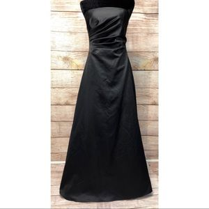 Night way Strapless Ruched Ball Gown